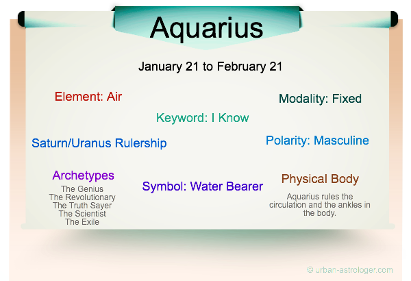 Aquarius Traits Infographic